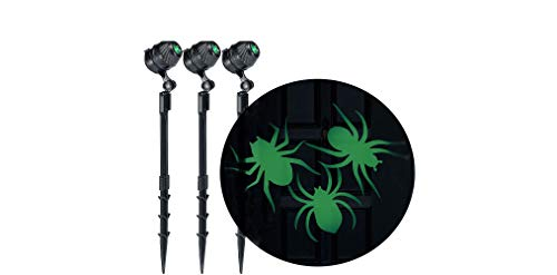 Spider Projectors Halloween Decorations and Supplies, 3-Count, 1 3'4