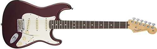 Fender American Standard Stratocaster Solid-Body Electric Guitar with Hard-Shell Case, Bourdeux Metallic