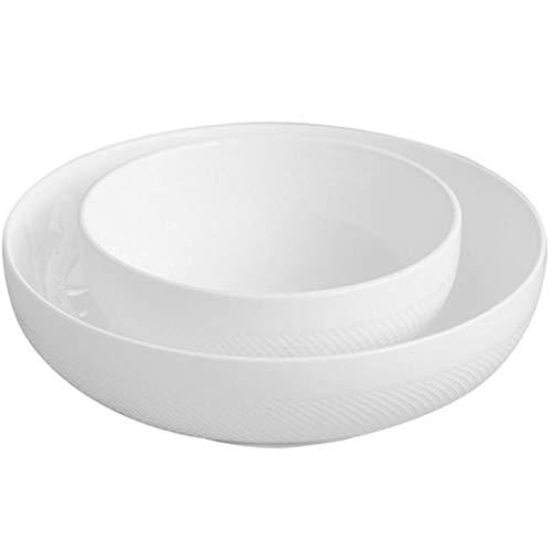 Tazón de ramen blanco puro del estilo japonés Cuenco redondo de cerámica Cuenco redondo lindo Cereal de avena japonés...