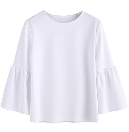 White 3/4 Sleeve Top - 2