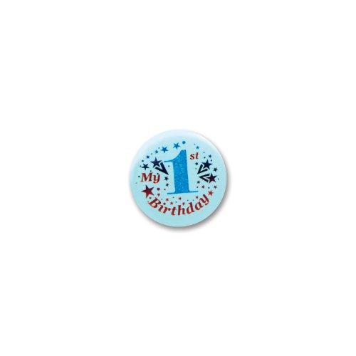 Beistle My 1st Birthday Satin Button]()
