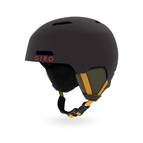 Giro Ledge Snow Helmet Matte Black Mo' Rockin' MD 55.5–59cm (Molded Foam Hard)