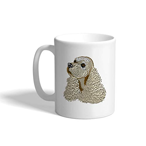 Ceramic Funny Coffee Mug Coffee Cup Cocker Spaniel Head White Tea Cup 11 Ounces