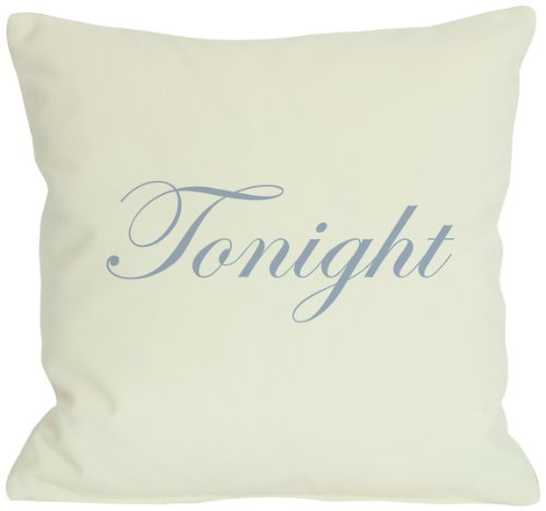 One Bella Casa Tonight or Not Tonight Reversible Throw Pillow by OBC, 26 x 26 , Ivory Multi