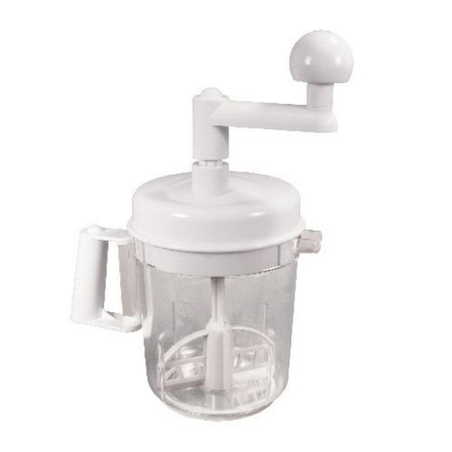 Weston Multi Function 6-Cup Manual Mixer (16-0301-W), Chop and Mix in One Container, 3 Blade Chopper
