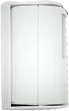 Garza Power - Detector de Movimiento Infrarrojos con Timbre y Alarma 70dB, Ángulo de Detección 60º, color Blanco