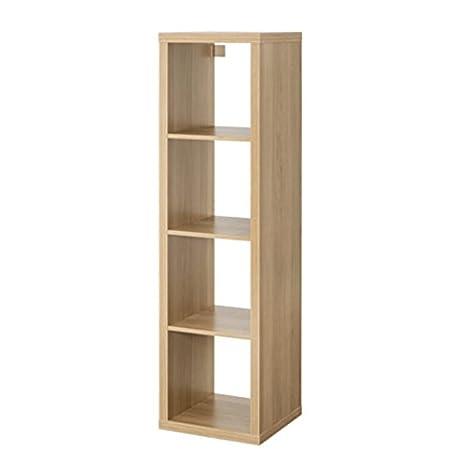 Mueble rectangular de IKEA, modelo Kallax, con 4 estantes, marrón, 42x147 cm: Amazon.es: Hogar
