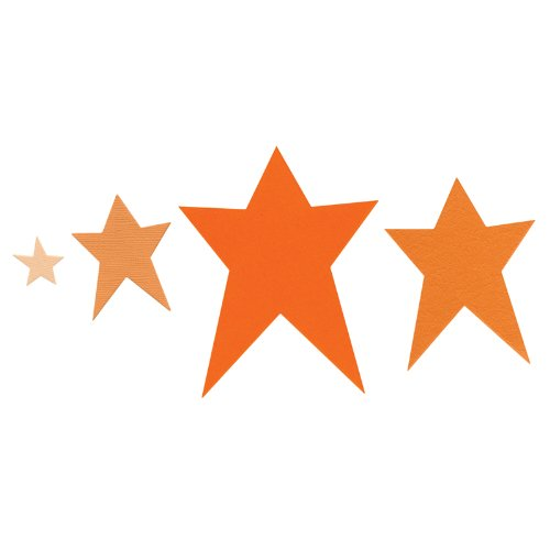 Dies 4 Sizzlits (Sizzix Framelits Die Set 4PK - Stars, Primitive by Rachael Bright)
