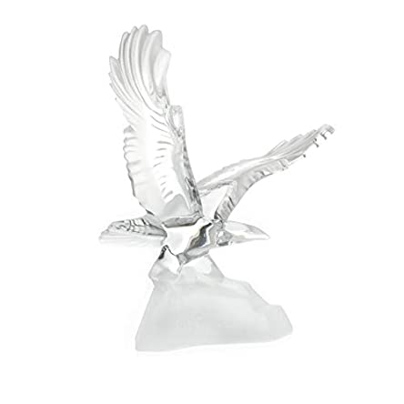 Crystal Flying Eagle Collectible Sculpture Figurine...