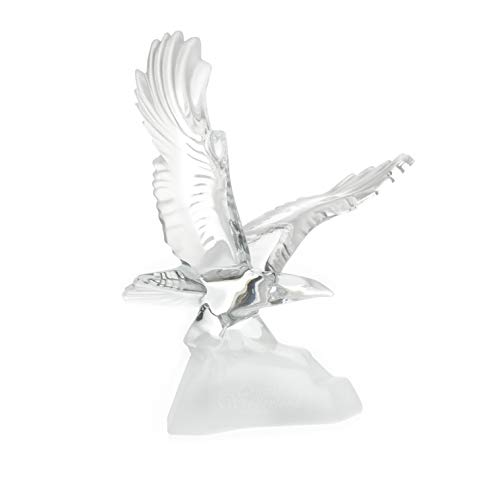Crystal Flying Eagle Collectible Sculpture Figurine Paperweight ()