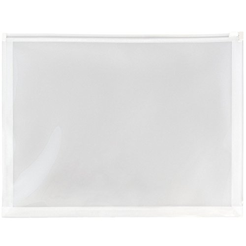 velopes with Zip Closure - Letter Booklet - 9 3/4 x 13 - Clear - 12/Pack ()