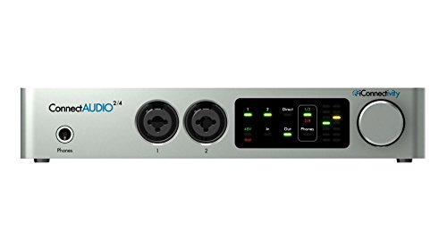 iConnectivity ConnectAUDIO2/4 Touch Controlled 2-Input 4-Output Audio & MIDI Interface (caudio-24