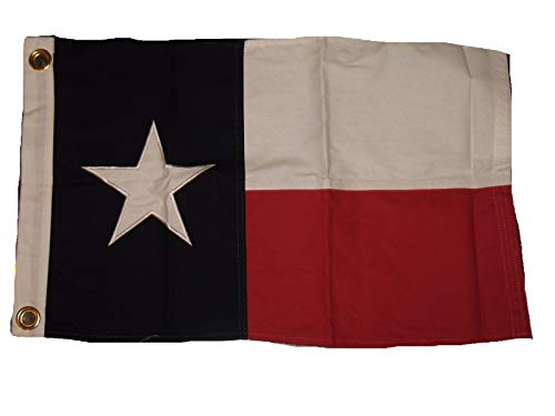 Moon 16x24 Embroidered 100% Cotton Texas Flag 16''x24'' Fram