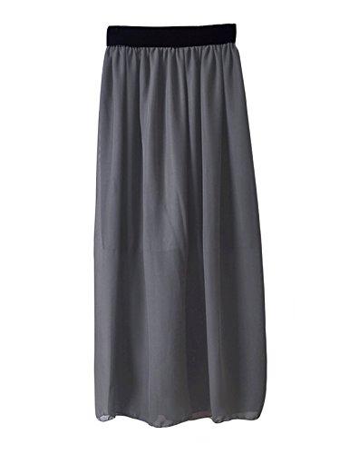 Robe Fonc plisse Gris Femme avec lastique Jueshanzj un TwnZq5nH