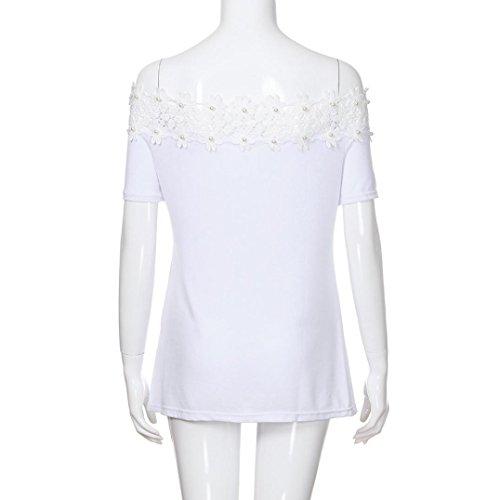 Magliette Spalle Donna da Senza Bluestercool Donna Elegante Shirt Bianco Estate T TIxgYqR