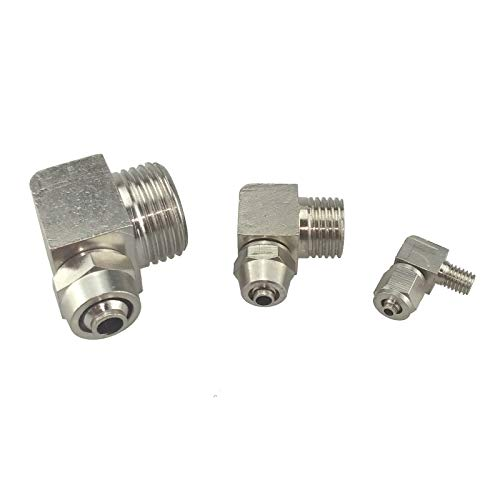 """Tube O//D 4//6//8//10//12mm To Male BSP M5 1//8/"""" 1//4/"""" 3//8/"""" 1//2/"""" Pneumatic Straight Fit"""