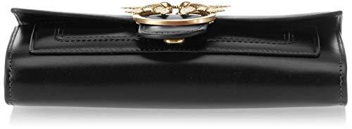 Limousine Pinko Aliboni Vitello Wallet Shoulder Clutch With Seta Black Women's Nero vqvRA