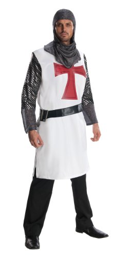 [Rubie's Costume Heroes And Hombres Adult Knight To Remember Costume Tunic And Headpiece, White,] (Period Piece Halloween Costumes)