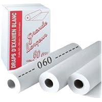 Drap Examen Blanc 60cm X38cm/150 Formats carton de 9 rouleaux