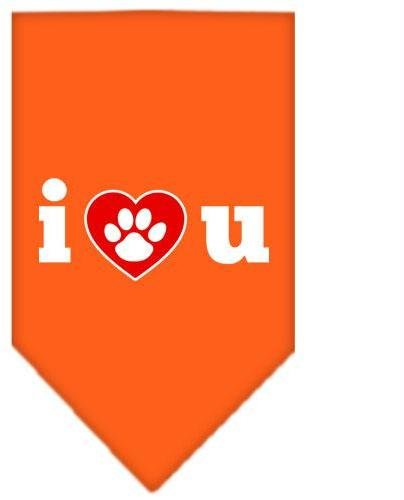 I Love U Screen Print Bandana Orange Small Case Pack 24 I Love U Screen Print... by DSD