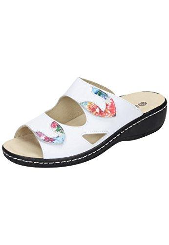 Dr. Brinkmann Dr. Brinkmann Damen Pantolette - Zuecos de Piel para mujer Blanco blanco Blanco - blanco