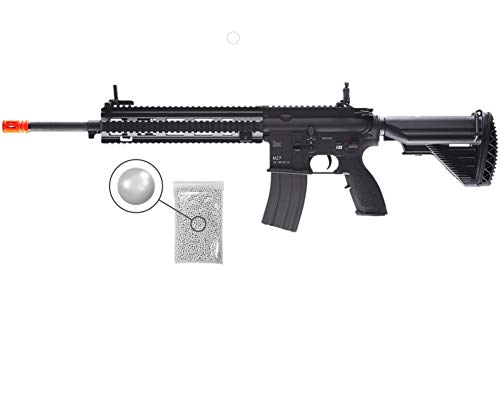 Umarex Elite Force Heckler&Koch HK M27 IAR AEG Electric Airsoft Rifle Gun with Avalon Gearbox with Wearable4U Bundle