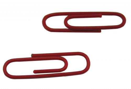 Yongshida Vinyl Coated Wire Paper Clips Color Dark Red 1.1