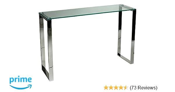 Amazon.com  Cortesi Home Remi Contemporary Glass Console Table with Chrome  Finish  Kitchen   Dining 1f0932c33