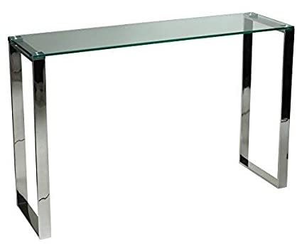 Amazoncom Cortesi Home Remi Contemporary Glass Console Table With