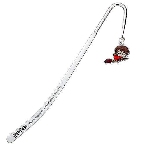 (HARRY POTTER Official Licensed Silver Plated Bookmark (Chibi))