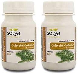 Sotya Cola de Caballo | 200 Comprimidos de 500mg (100 + 100) | Diurético Ideal para la retención de líquidos.