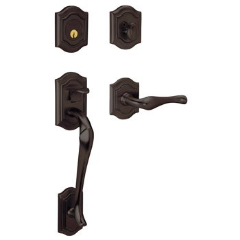 - Baldwin 85327.112.LENT Bethpage Sectional Trim Left Hand Handleset with Bethpage Lever, Venetian Bronze