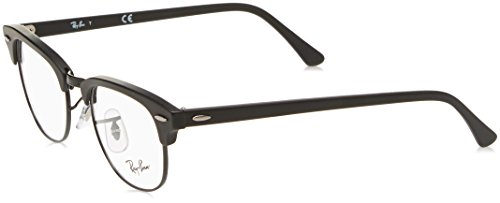 Ray-Ban RX5154 Clubmaster Eyeglasses Matte Black - Men Bans For Glasses Ray