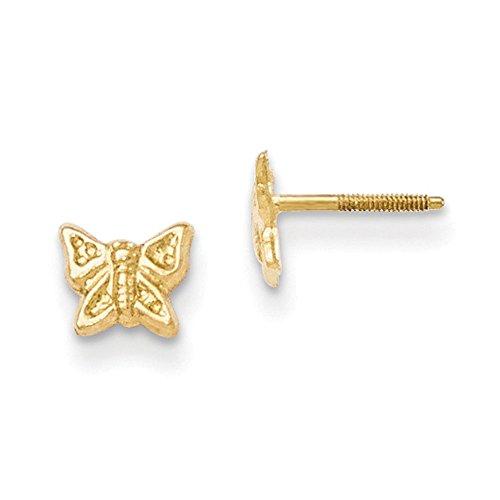 14K Madi K Butterfly Screwback Earrings