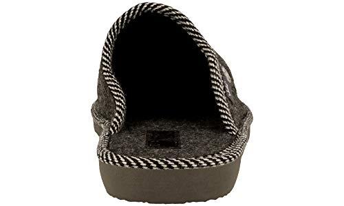 Lana Calientes Hombre Casa Para 906a Bienestar Handmade Calidad Natural Zapatillas Negro De Fieltro Transpirables 0qTnX