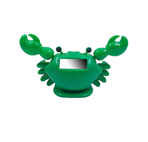 Luonita Environmental Plastic Solar Automatic Swinging Solar Powered Dancing Crab Animals Doll Toy Figure Statue for Home Car Decoration Dashboard Windowsill Dance Funny Gift for Friend (Green)