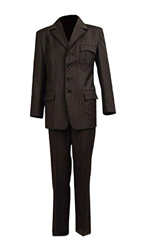 Allten Mens Cosplay Costume Dr Brown Pinstripe Suit Blazer Pants