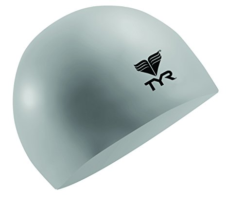 TYR Latex Swimming Cap Silver - 1