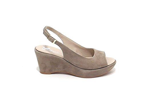 Susimoda Chaussures Femme-Sandale 233395 en daim beige