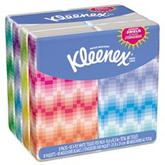 KIMBERLY-CLARK PROFESSIONAL* KLEENEX Facial Tissue Pocket Packs 8.60''/10 per pack/Eight packs of ten tissues each/Pack/Qty 10/8.3'' by KMBRLY (Image #1)