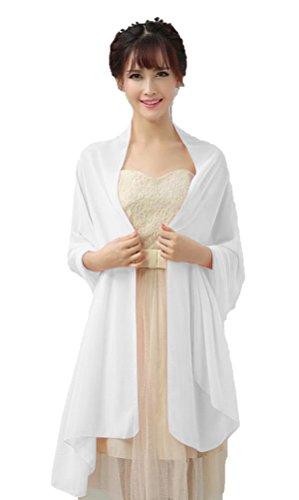 Dresstells Gasa Chales de Bufandas de la Boda de noche Ivory