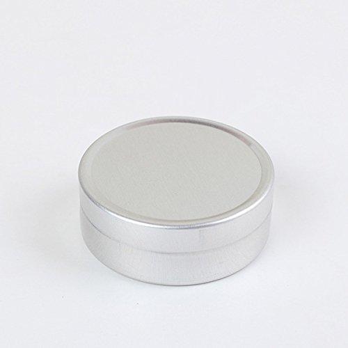 KingSo® Aluminum Empty Cream Cosmetic Pots Lip Balm Container Jar Silver Tins 10ml 20ml