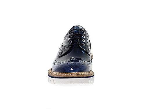 Femme À Cuir Lacets Barracuda Bd0444b Chaussures Bleu Pw0qdUxA