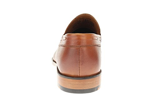 Luciano Natazzi Mens Slip-on Full In Pelle Penny Mocassino Scarpa Sl308 Tan Burnish