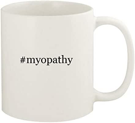 #myopathy - 11oz Hashtag Ceramic White Coffee Mug Cup, White