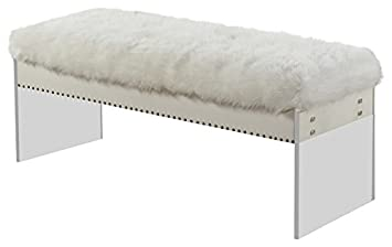 Amazon.com: Meridian Muebles 105 Fur Jenny Fur Banco, color ...