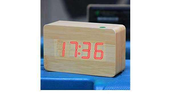 Amazon Com Luli All In One Design Blue Number Usb Battery Wooden Clock With Voice Control Sku S Ack 0123r Home Kitchen