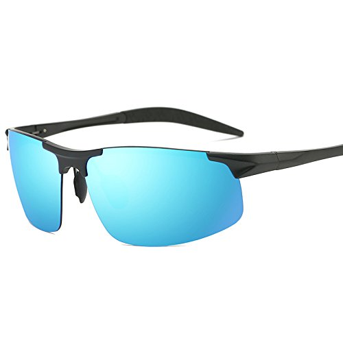 film Polarizing Chennnnnn Framed blue Gafas Sol Blue de Glasses Black Polarizer Que conducen Silver Hombres Polarizer Film Los frame CSWnvxCT