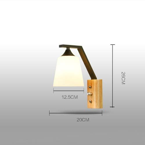 Amazon.com: AXWT Modern Simple Solid Wood Wall Lamp Bedside ...