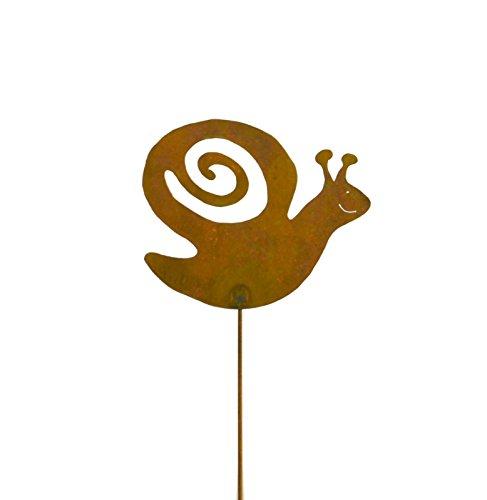 Snail Rusty Metal Garden Stake